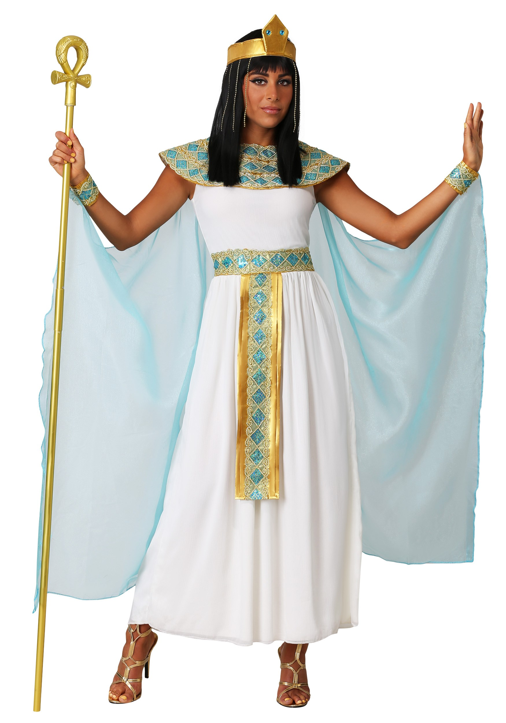 Adult Queen Cleopatra Costume - Womens Egyptian Goddess ...