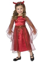 Girl Devil Toddler Costume