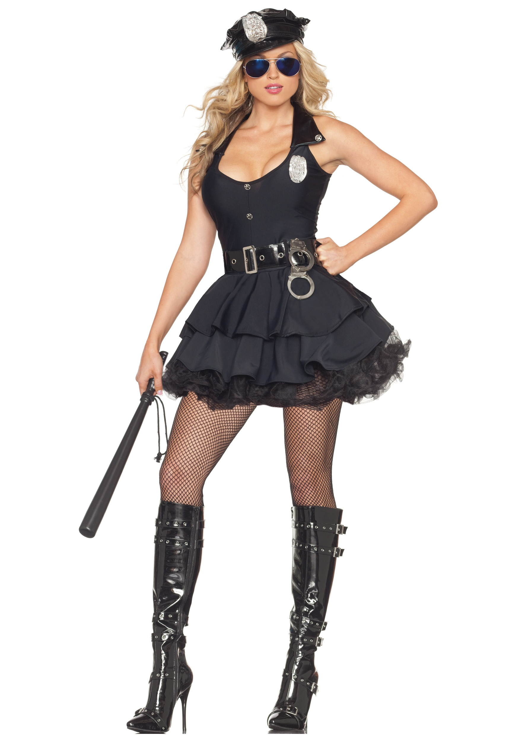 Sexy Tutu Cop Costume Womens Police Officer Costumes