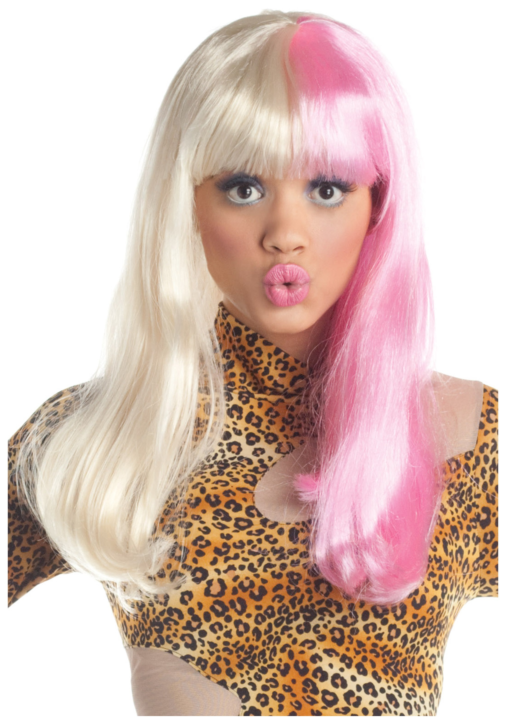 Pink and White Rap Star Wig  sc 1 st  Halloween Costume & Pink and White Rap Star Wig - Nicki Minaj Costume Accessories