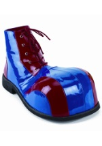 Adult Blue and Red Clown Shoes