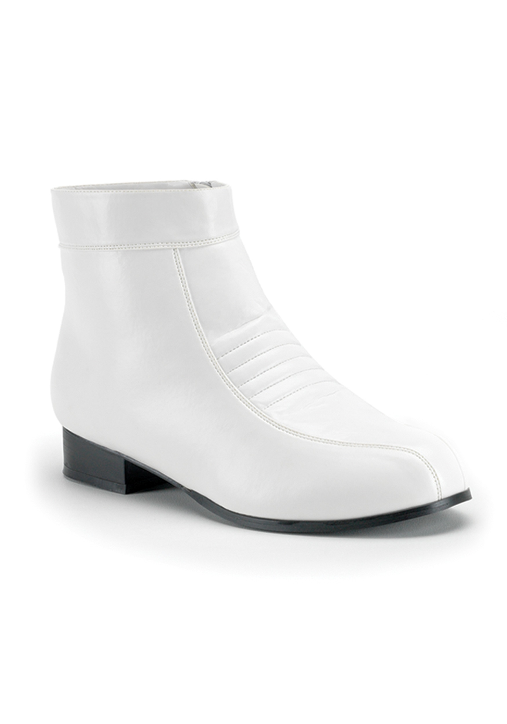 White Mens Boots - Adult Halloween Costume Boots