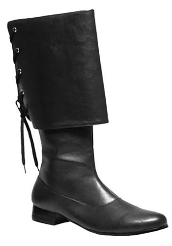 Mens Black Pirate Boots