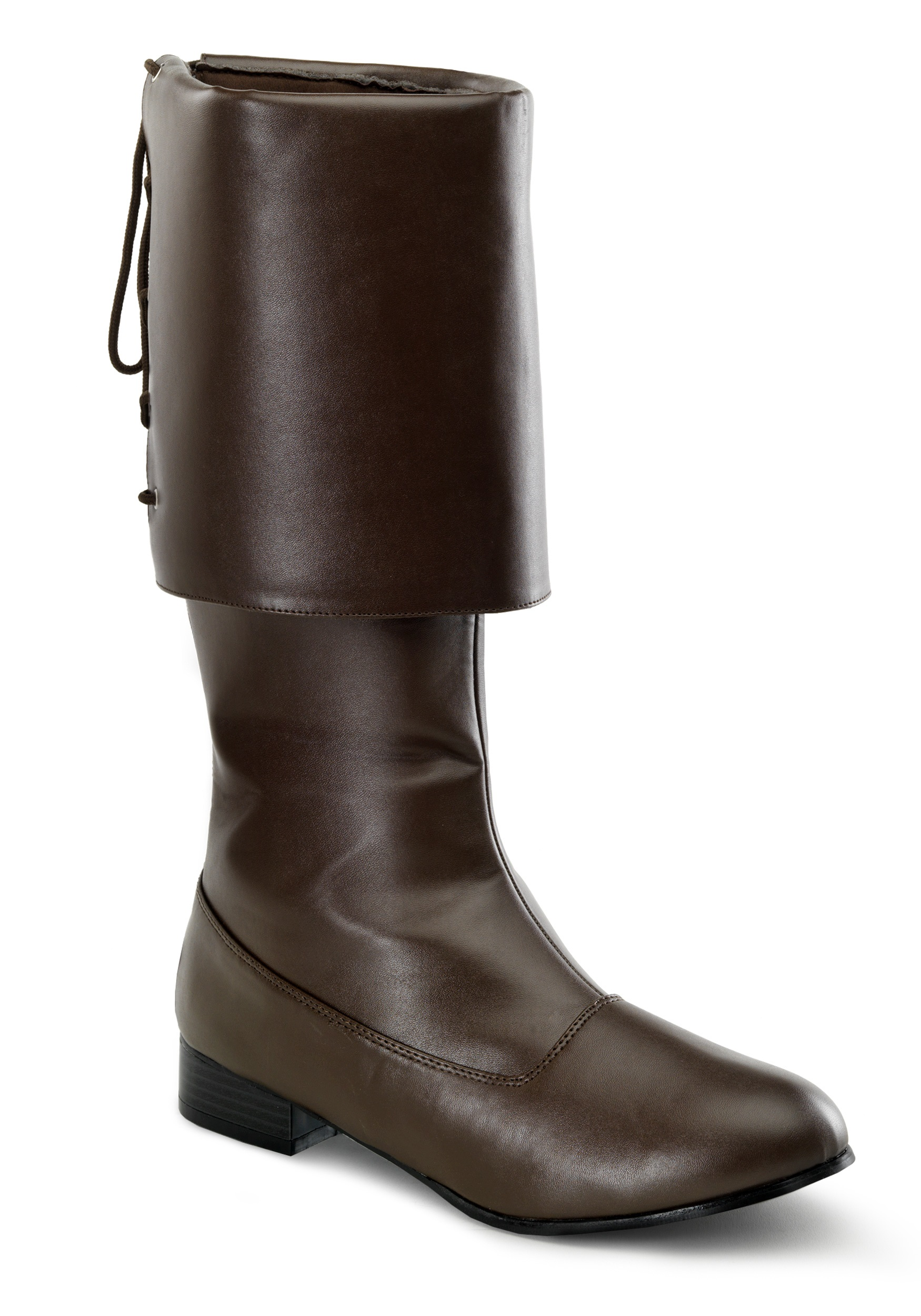 mens brown pirate boots colonial costume pirate boots