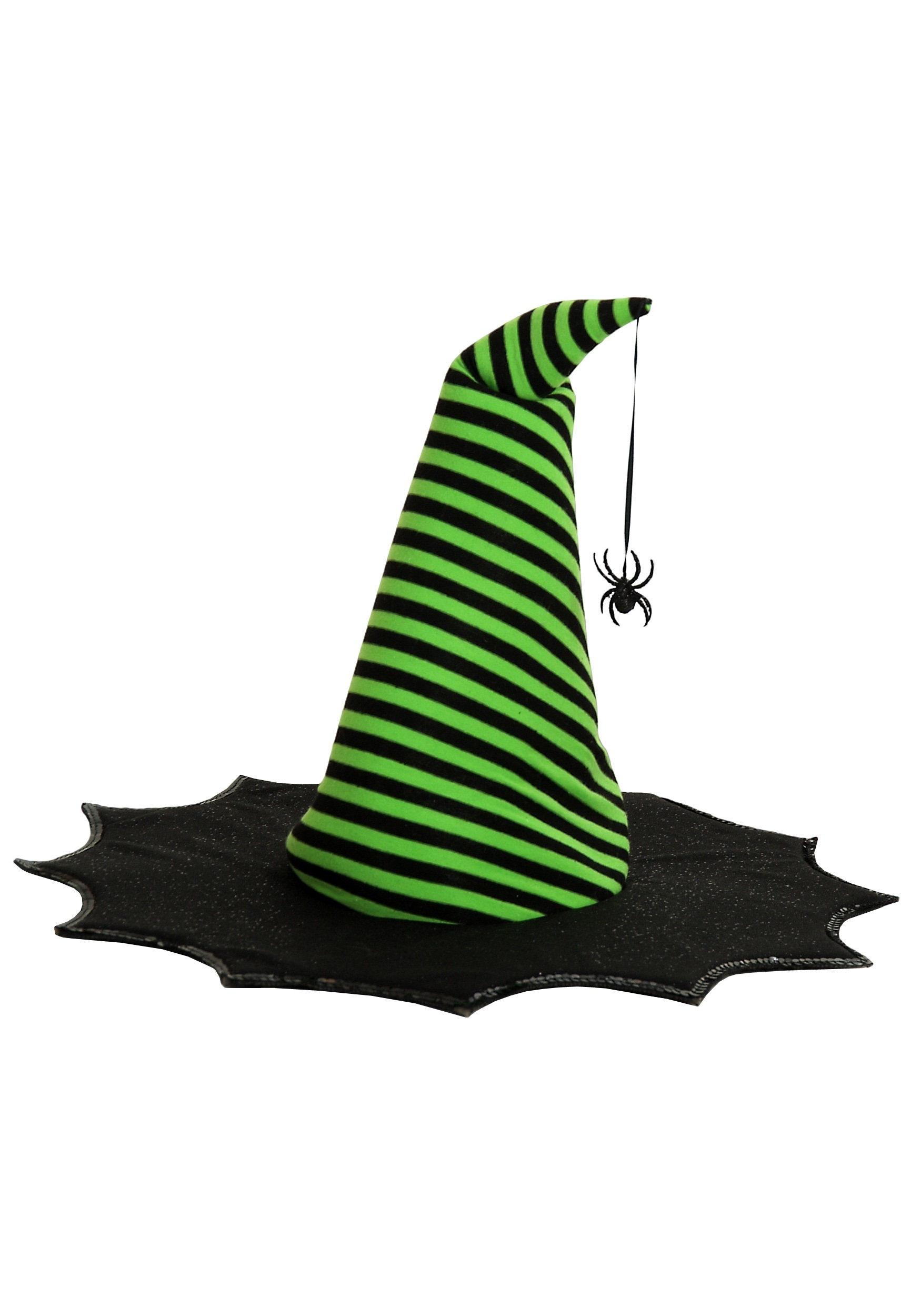 Green Striped Spiderina Witch Hat - Child Witch Hats