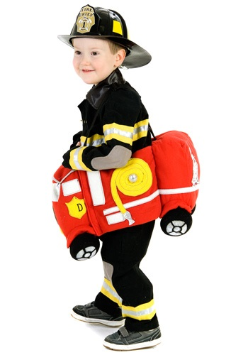 Toddler Fire Truck Ride Costume