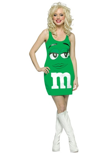 Sexy Green M&M Costume
