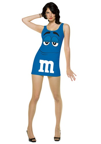 Sexy Blue M&M Dress