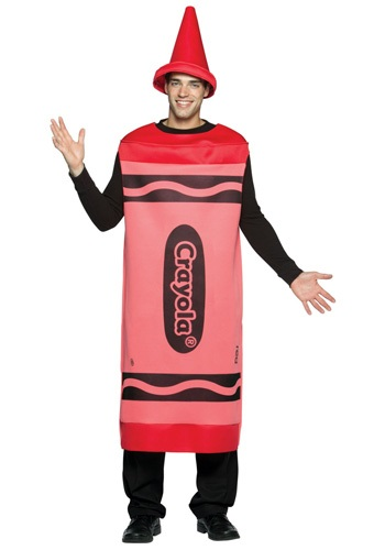 Red Crayon Adult Costume