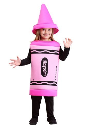 Toddler Girl Pink Crayon Costume