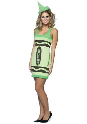 Womens Screamin' Green Crayon Dress