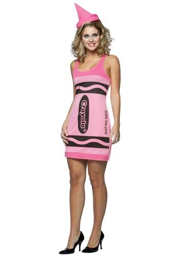 Womens Pink Crayon Dress
