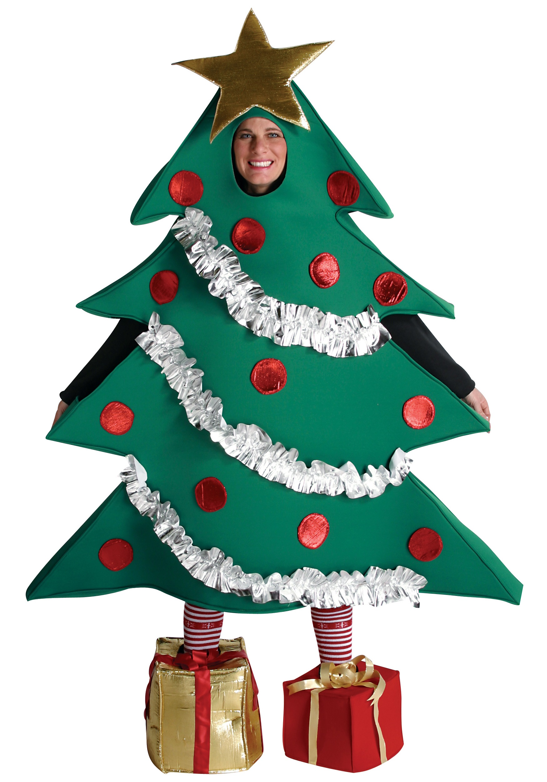Christmas Tree Adult Costume - Funny Holiday Costumes