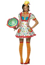 Women's Flirty Clown Costume
