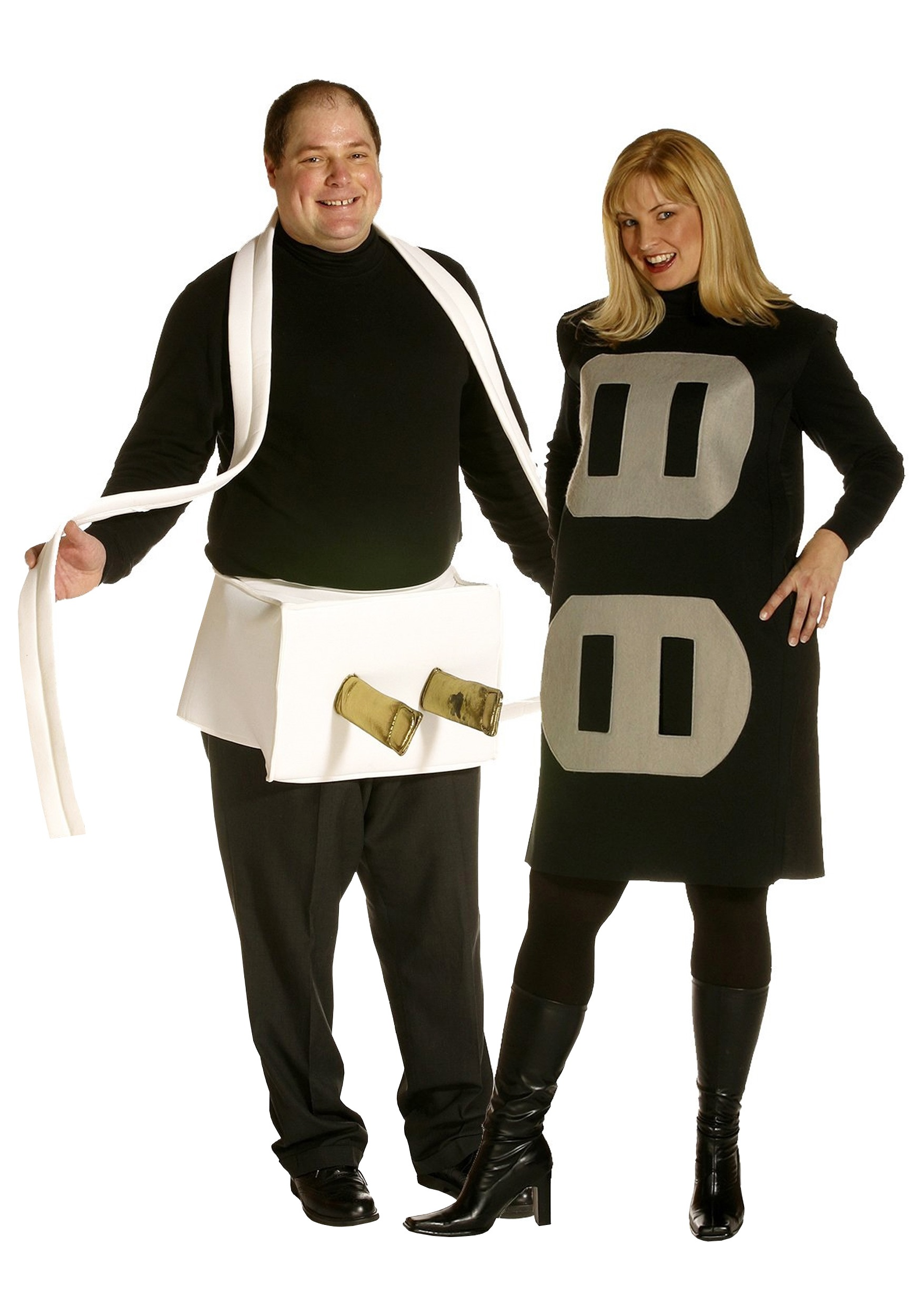 Couples Christmas Party Ideas Part - 31: Plug And Socket Plus Costume