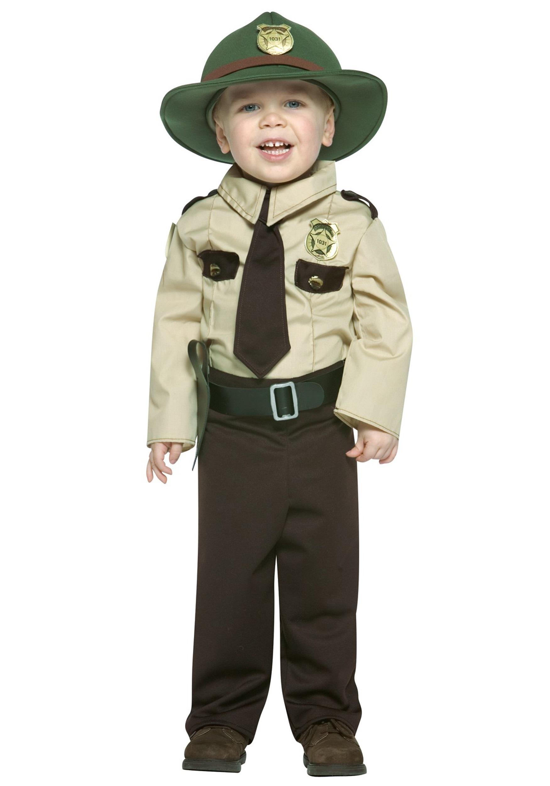 Toddler State Trooper Costume Toddler Uniform Halloween