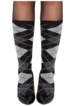 Womens Argyle Stockings