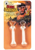 Clip On Caveman Bone Earrings