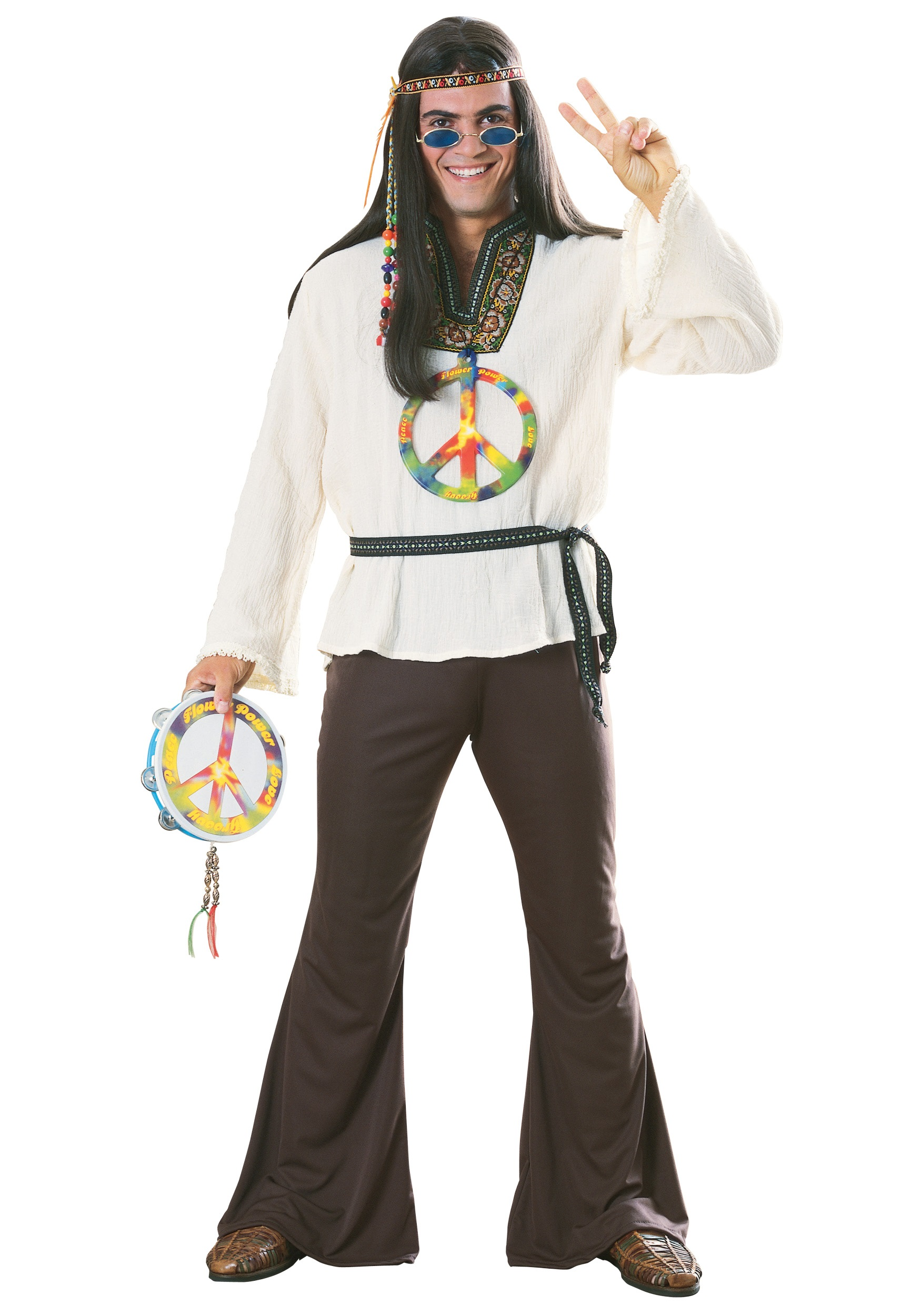 Killer Hippie Costume Adult Groovin' Hippie Costume