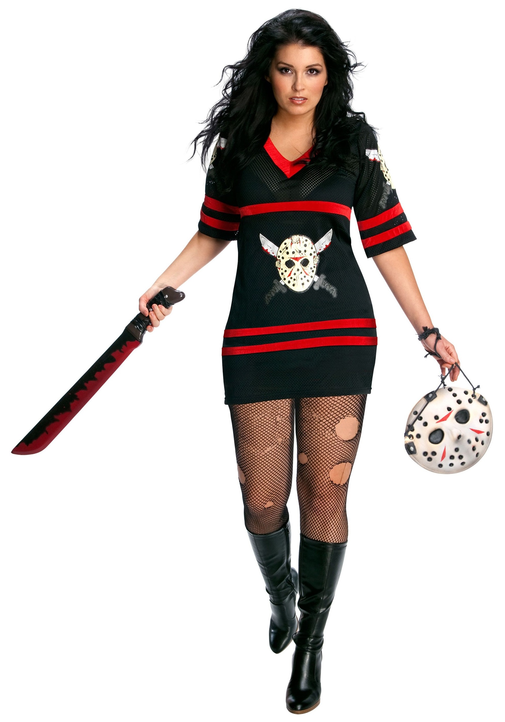 Plus Size Sexy Hacker Jason Costume  sc 1 st  Halloween Costume & Plus Size Sexy Hacker Jason Costume - Womenu0027s Friday the 13th Costumes