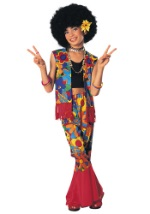 Girls Flower Child Hippie Costume