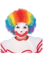Rainbow Afro Clown Wig