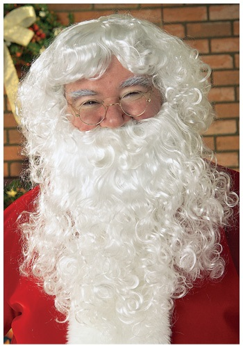 Curly Santa Wig with Beard