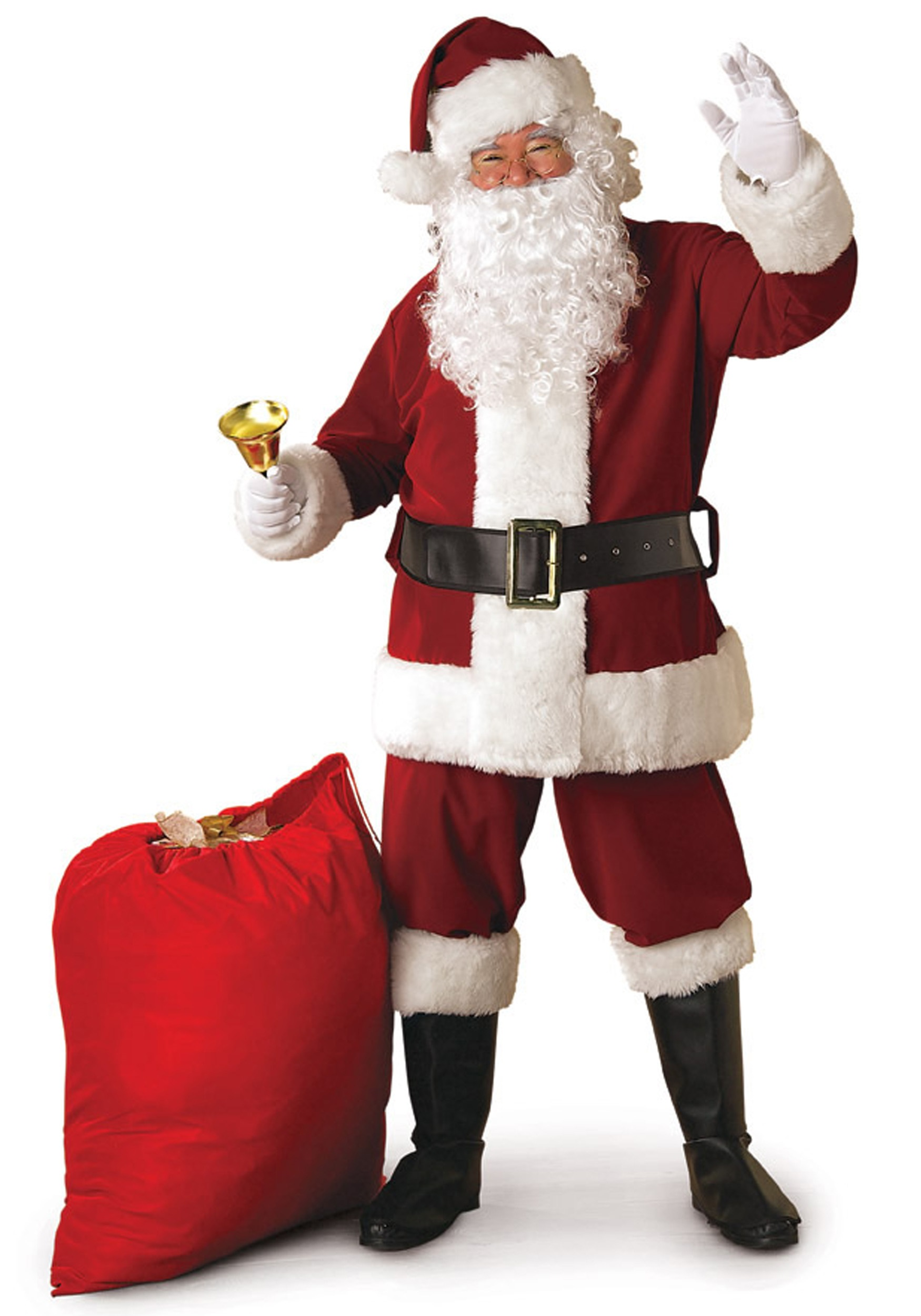 b0a6b00b5aaa5 Regal Santa Suit Costume - Deluxe Crimson Santa Claus Costume
