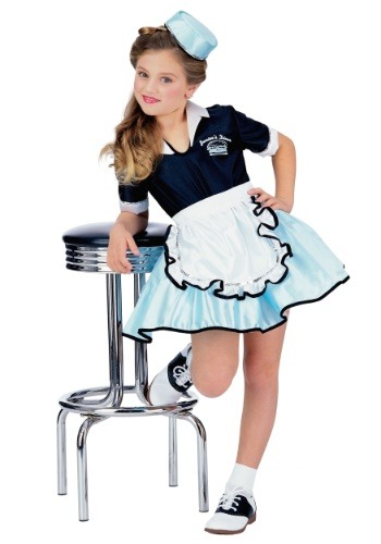 Girls Car Hop Sweetie Costume