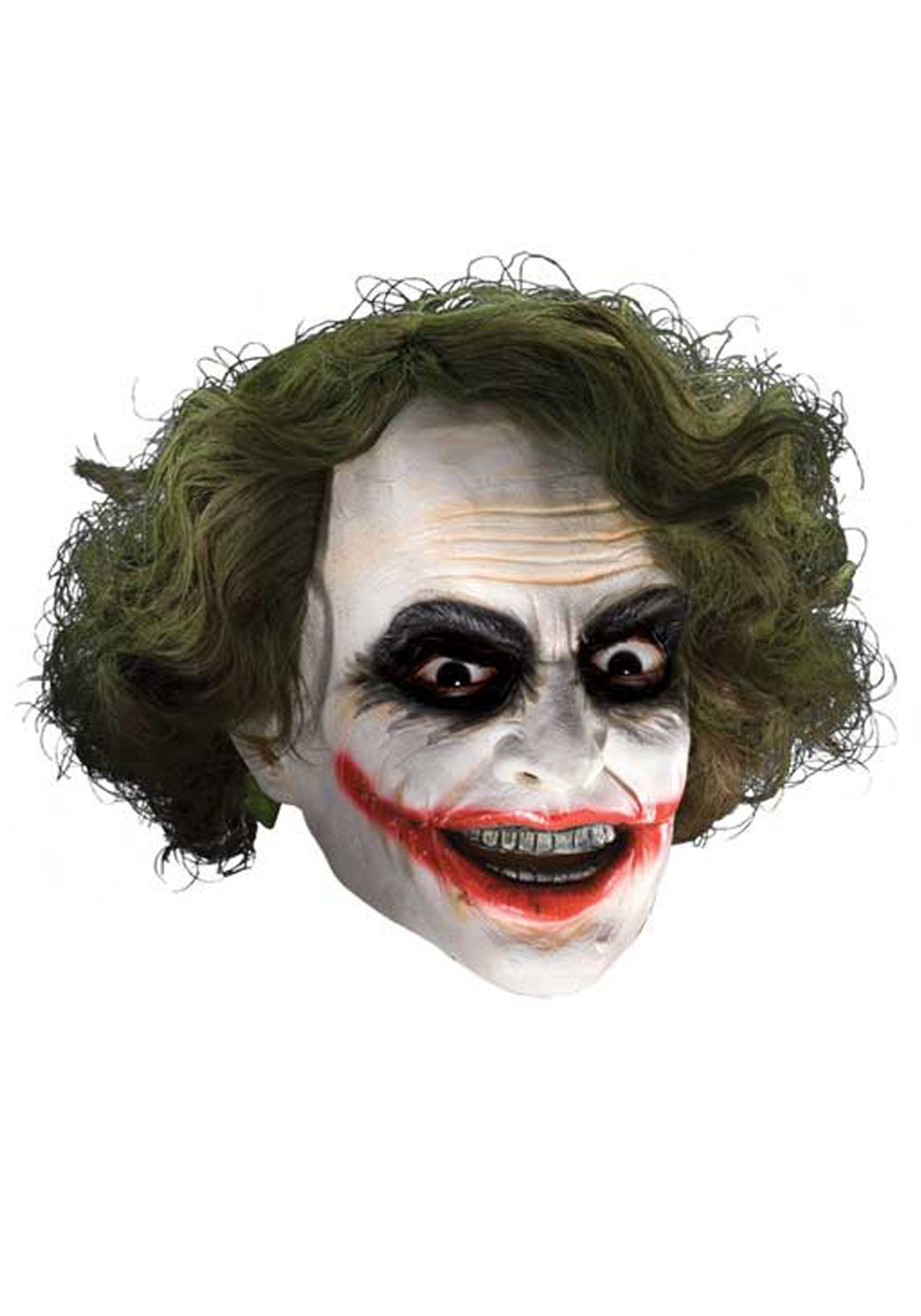 Joker Deluxe Child Mask with Hair  sc 1 st  Halloween Costume & Joker Deluxe Child Mask with Hair - Kids Dark Knight Costume Wigs
