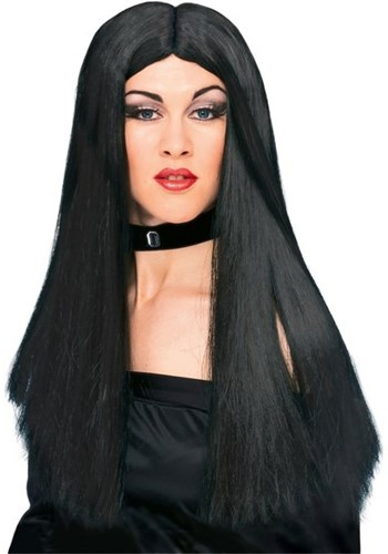 Long Black Costume Wig