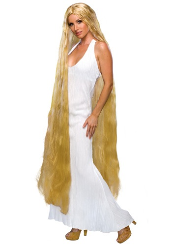 Womens Golden Rapunzel Wig