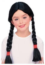 Native American Girls Braided Wig
