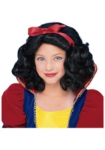 Girls Princess Snow White Wig