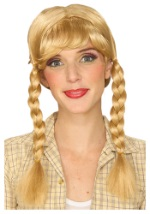 Blonde Braided Costume Wig