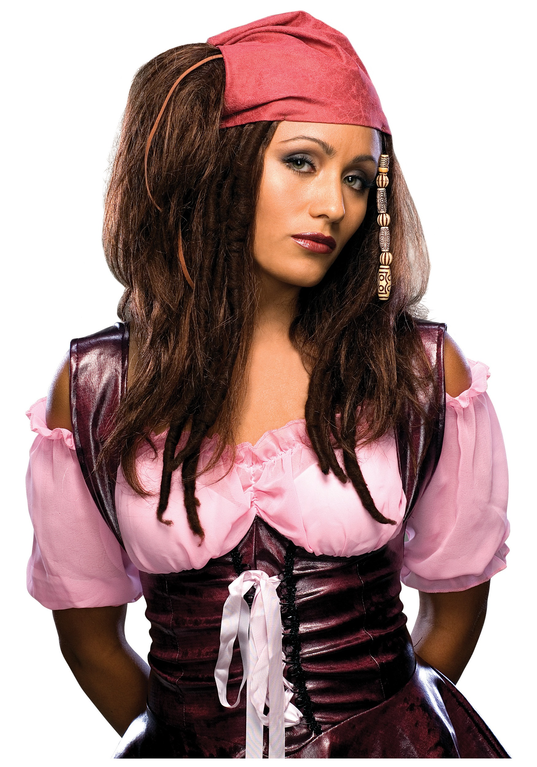 Saucy Pirate Wig  sc 1 st  Halloween Costume & Saucy Pirate Wig - Sassy Sea Wench Costume Accessory