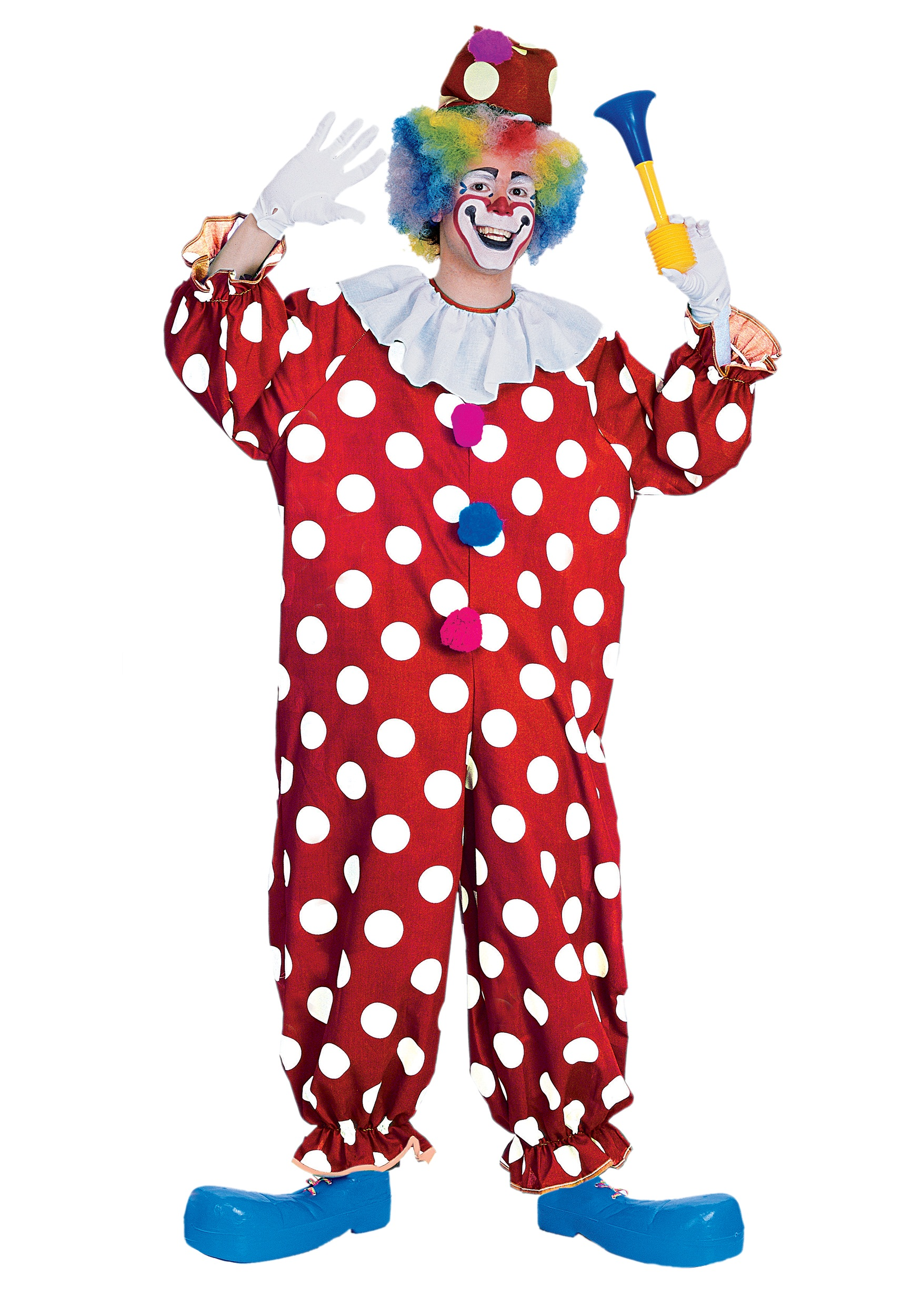 Mens Dotted Clown Costume  sc 1 st  Halloween Costume & Mens Dotted Clown Costume - Funny Adult Circus Clown Costumes