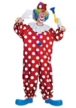 Mens Dotted Clown Costume