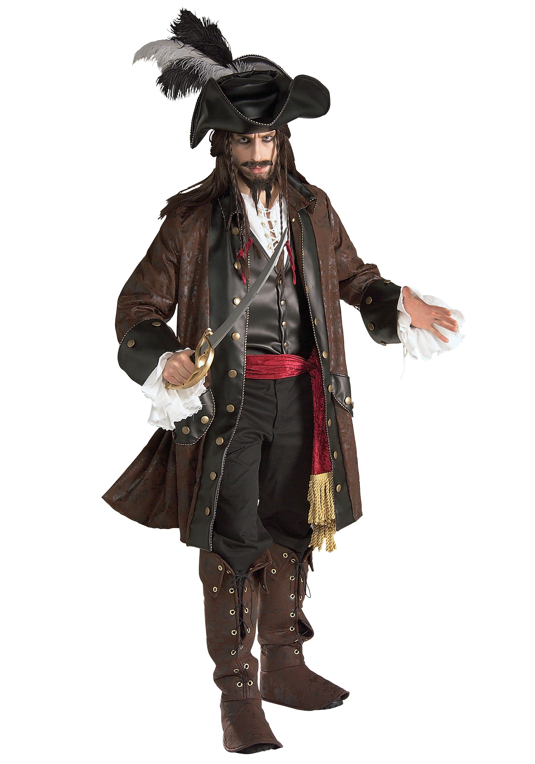 Authentic Pirate Costume - Deluxe Mens Adult Caribbean Pirate Costumes 9a53757f2ec4