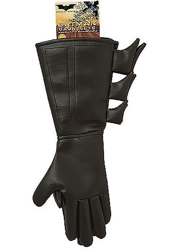 Kids Black Batman Gloves