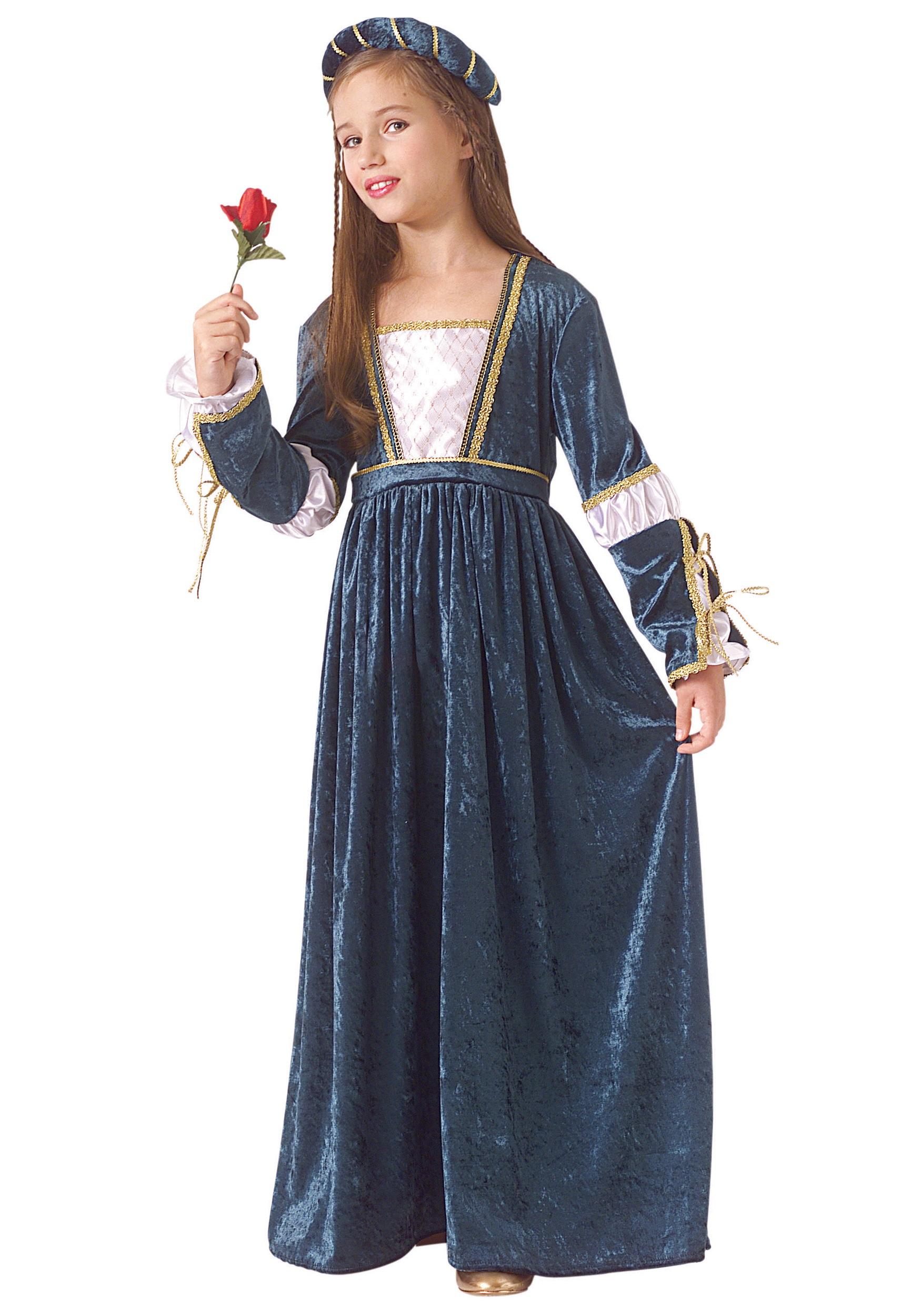 Girls Shakespeare Juliet Costume - Shakespeare Costumes ...