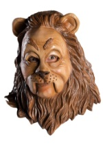 Latex Cowardly Lion Costume Mask