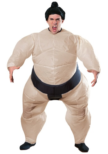Mens Inflatable Sumo Fighter Costume