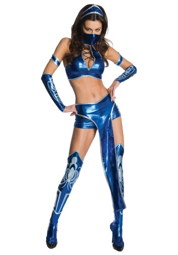Womens Kitana Mortal Kombat Costume