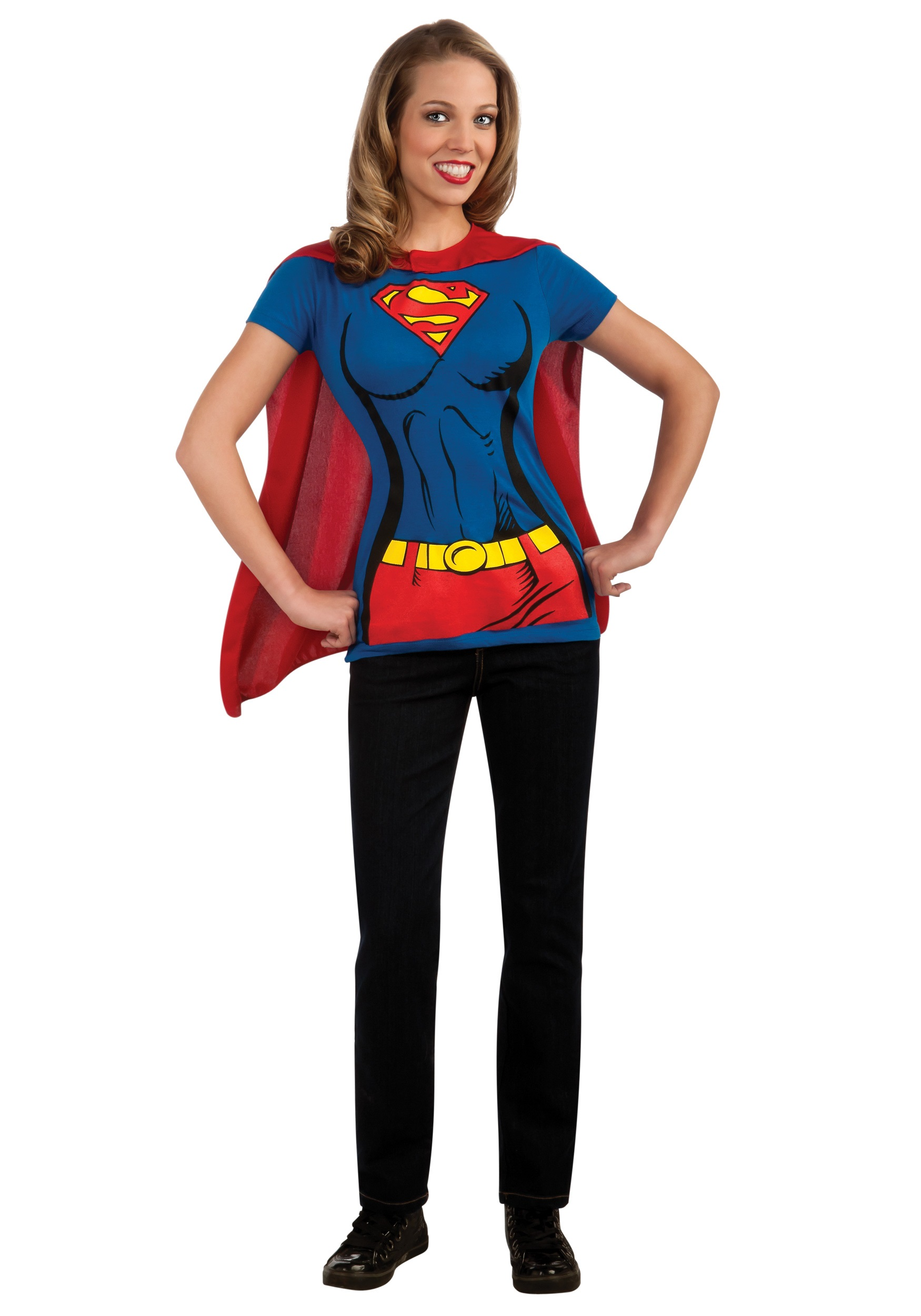 Supergirl T-Shirt Costume  sc 1 st  Halloween Costume & Supergirl T-Shirt Costume - Easy Superhero Costume Ideas