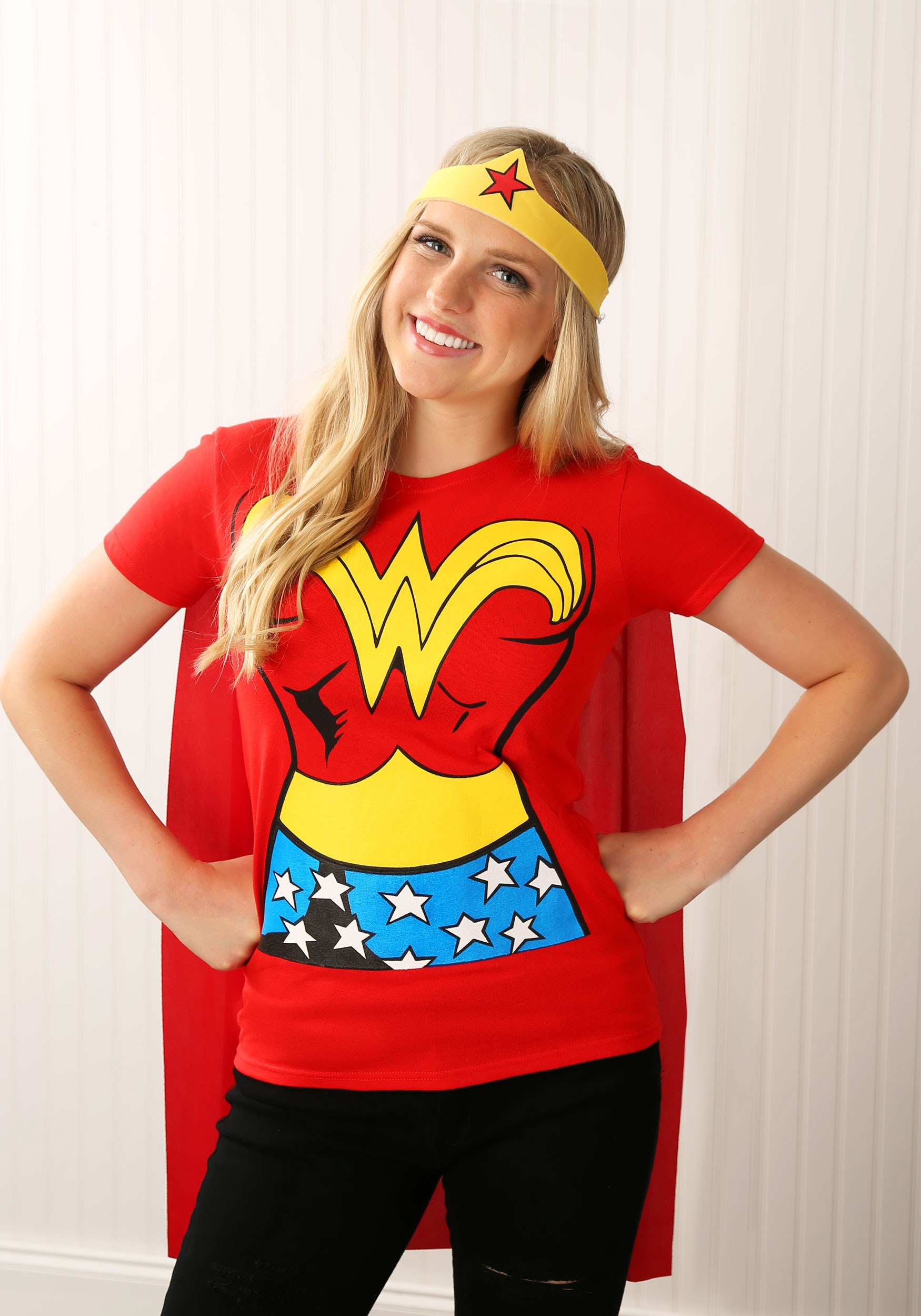 Superhero Wonder Woman T Shirt Costume Womens Superhero Costume Ideas