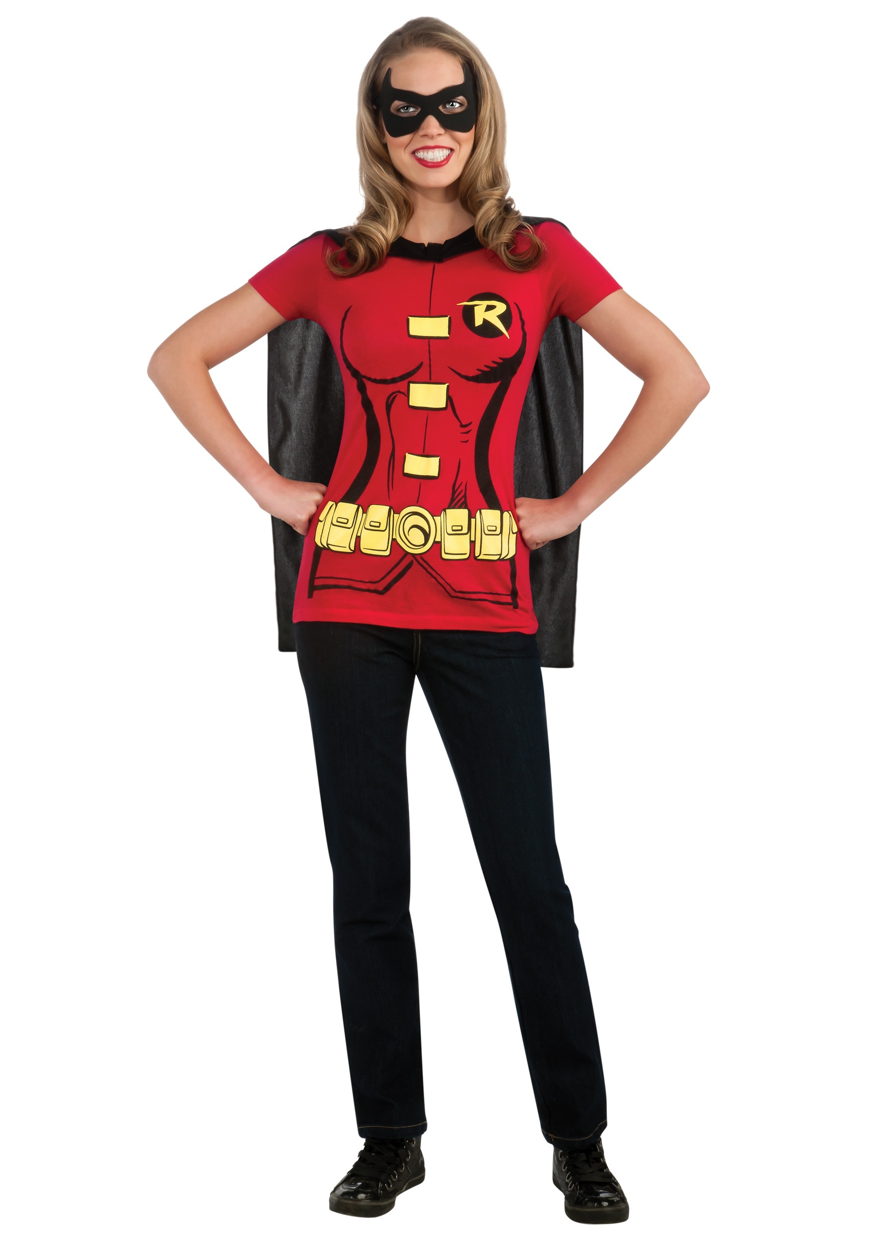 Womens Super Robin T-Shirt Costume  sc 1 st  Halloween Costume : superhero costumes for women diy  - Germanpascual.Com