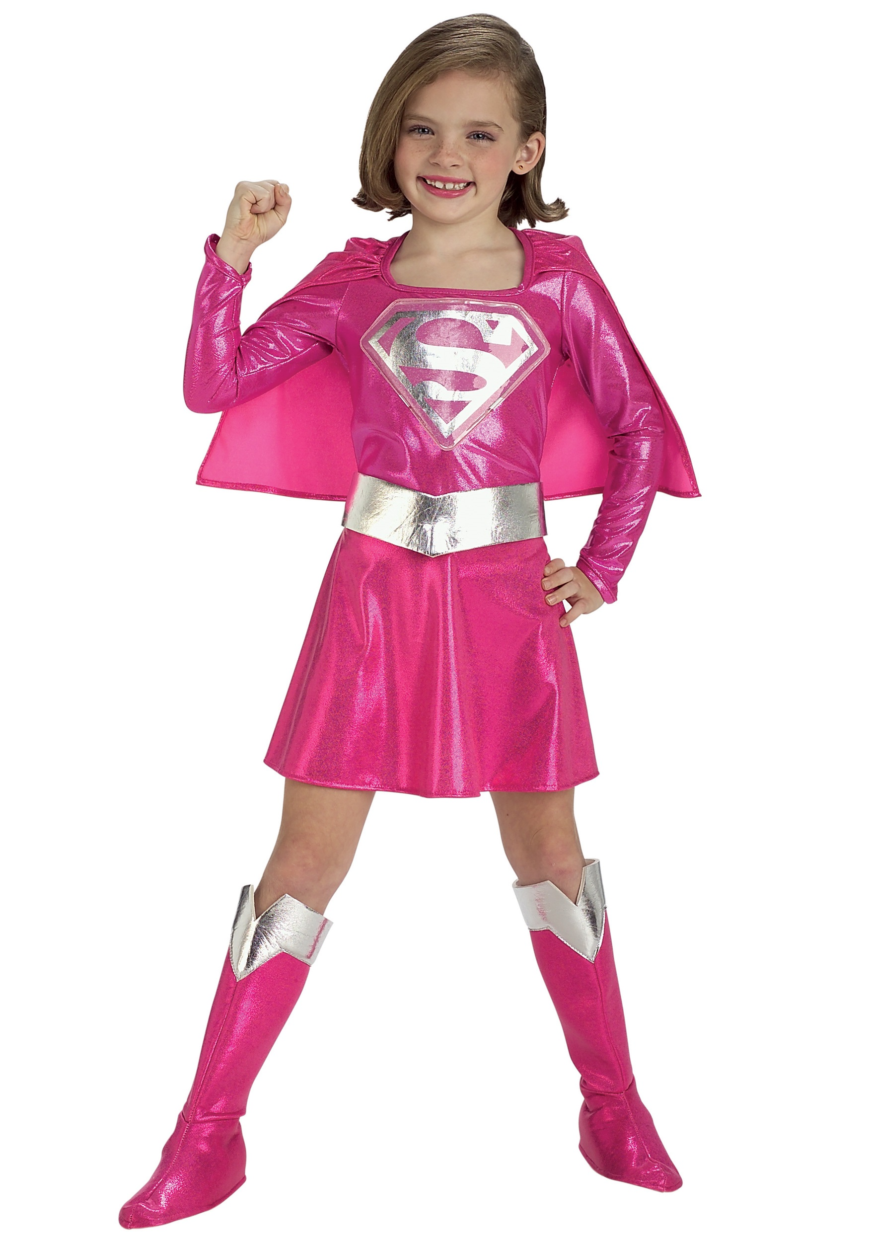 Pink Supergirl Costume  sc 1 st  Halloween Costume & Kids Pink Supergirl Costume - Girls Superhero Halloween Costumes