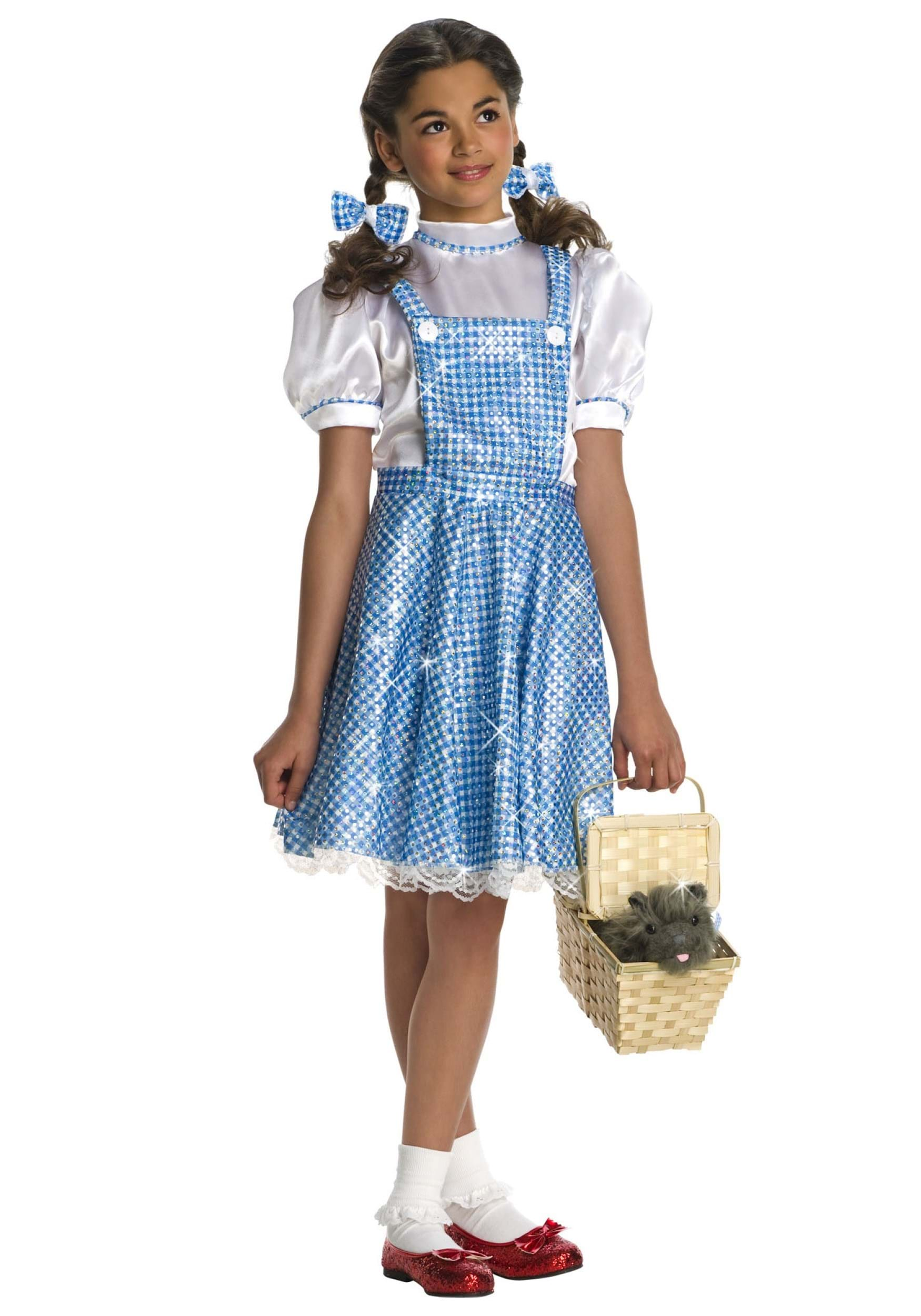Sequin Dorothy Toddler Costume  sc 1 st  Halloween Costume & Sequin Dorothy Toddler Costume - Girls Wizard of Oz Dorothy Costumes