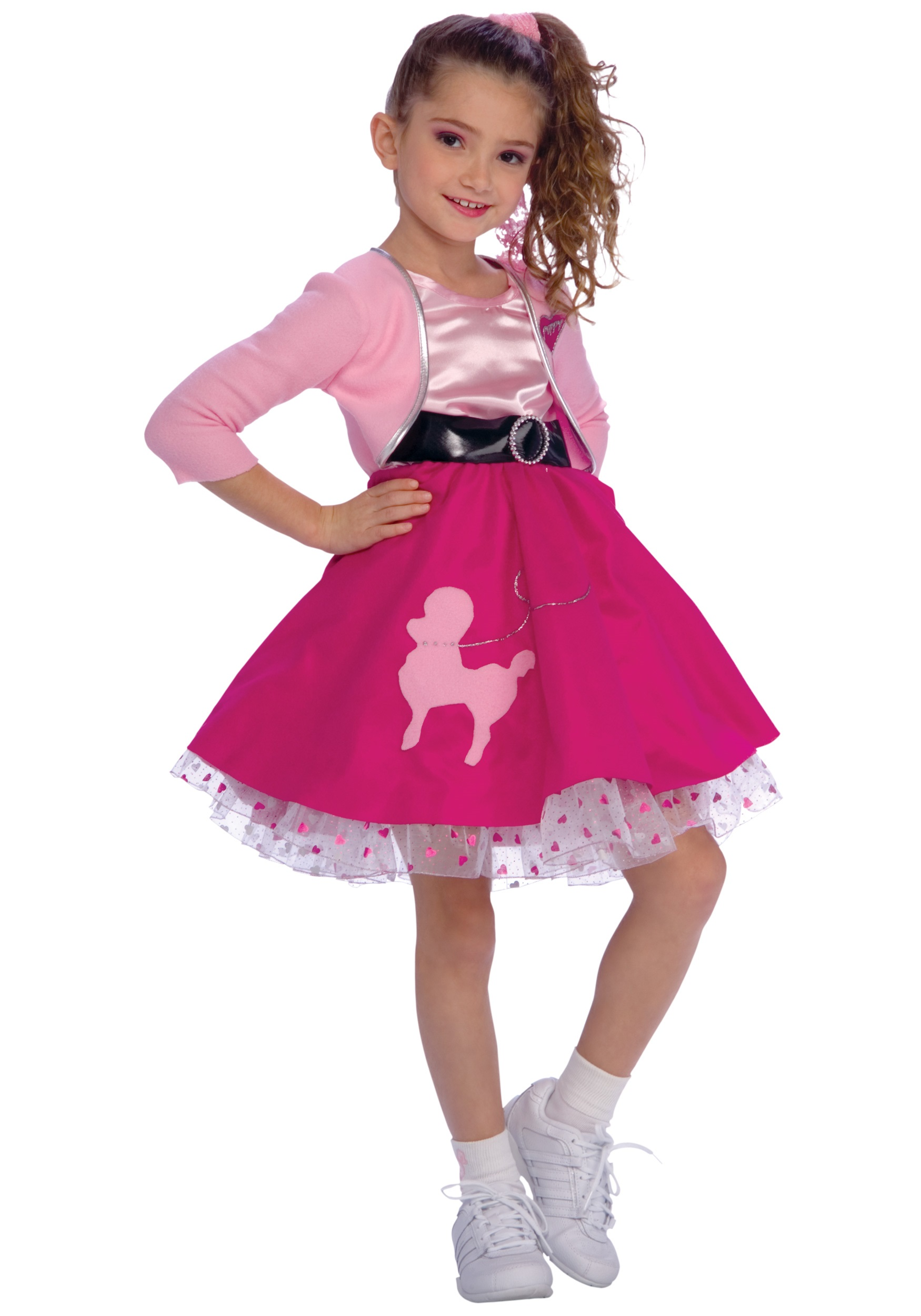 Girls Poodle Skirt Costume  sc 1 st  Halloween Costume & Girls Poodle Skirt Costume - Girls 50s Poodle Skirt Costumes